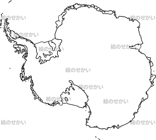 世界の地域地図:南極