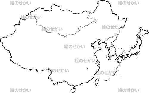 東アジア地域の白地図セット