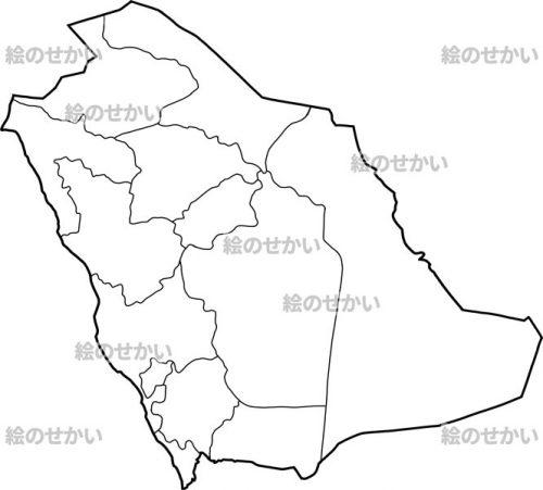 西アジアの地図:サウジアラビア