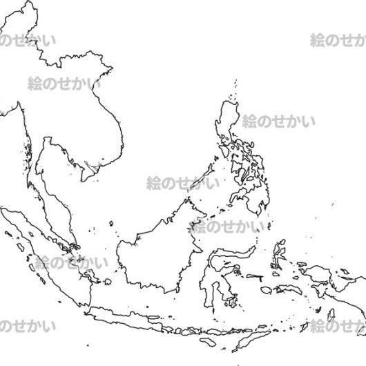 東南アジアの地図イラスト:東南アジア地域