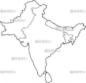 東アジアの白地図セット:東アジア地域