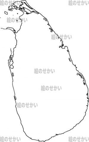 東アジアの白地図セット:スリランカ