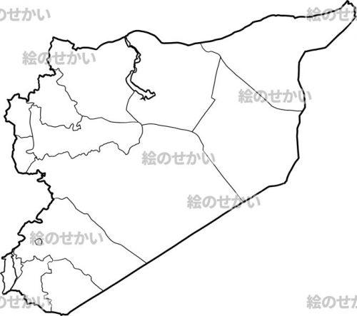西アジアの地図:シリア