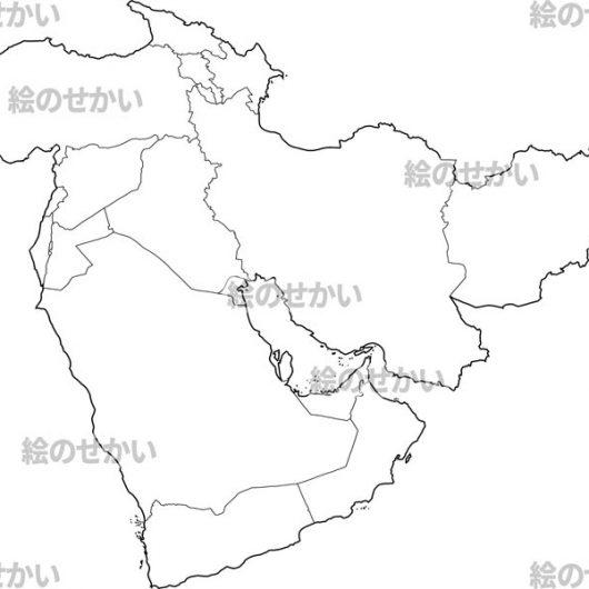 西アジアの地図:西アジア地域