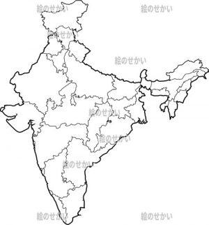 東アジアの白地図セット:インド