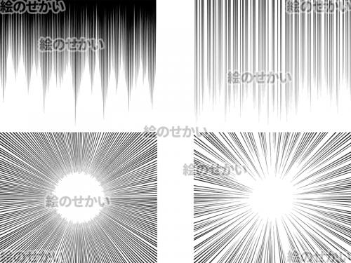 透過した集中線の素材:2(黒)