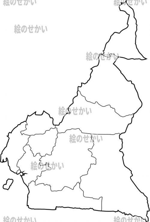 中央アフリカの白地図セット:カメルーン