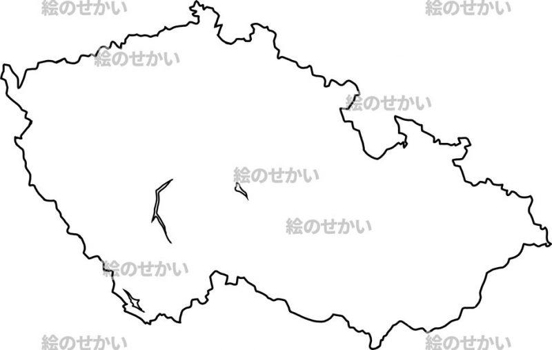東ヨーロッパの白地図セット:チェコ