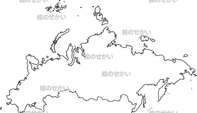 東ヨーロッパの白地図セット:東ヨーロッパ(ロシア含)