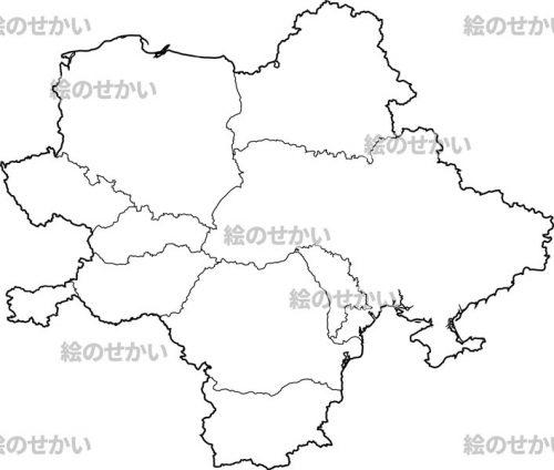 東ヨーロッパの白地図セット:東ヨーロッパ(ロシア除)