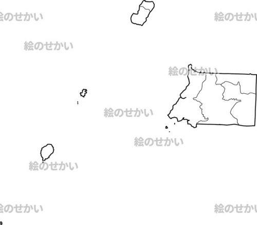 中央アフリカの白地図セット:赤道ギニア