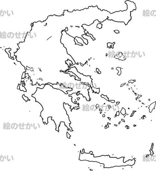 南ヨーロッパの白地図セット:ギリシャ