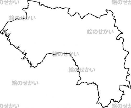 西アフリカの白地図セット:ギニア