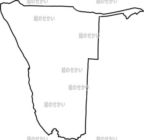 南アフリカの白地図セット:ナミビア