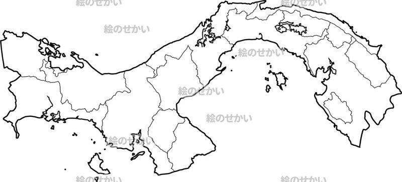 中央アメリカの白地図セット:パナマ