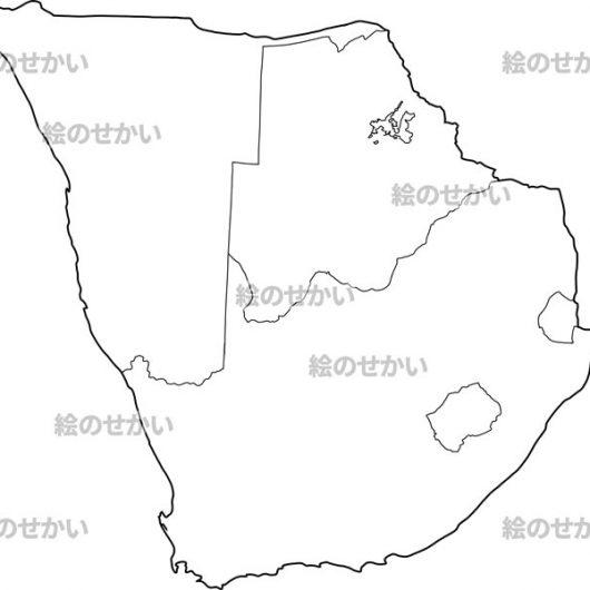 南アフリカの白地図セット:南アフリカ地域