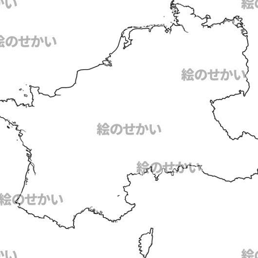 西ヨーロッパの白地図:西ヨーロッパ地域