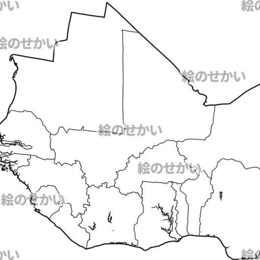 西アフリカの白地図セット:西アフリカ地域