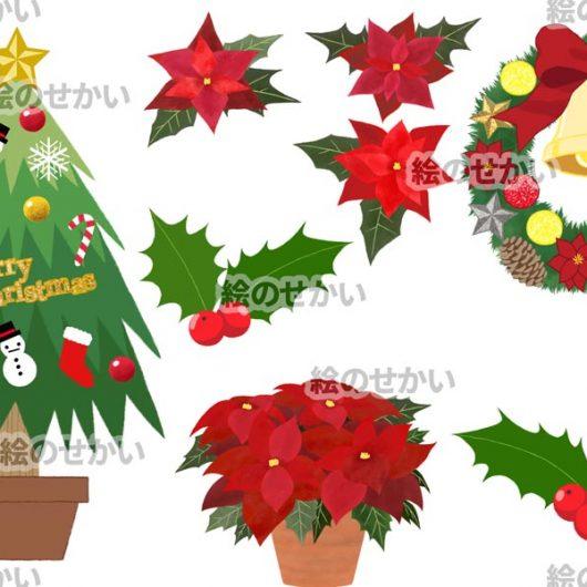 クリスマスイラストの素材セット:サンプル2