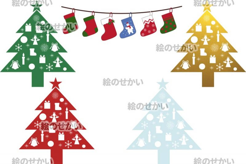 クリスマスイラストの素材セット:サンプル3