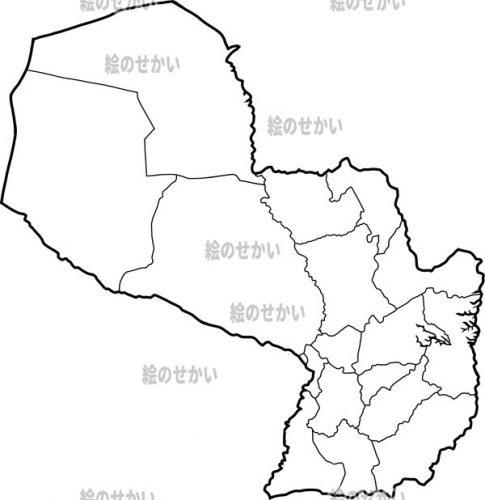 南米大陸の白地図セット:パラグアイ