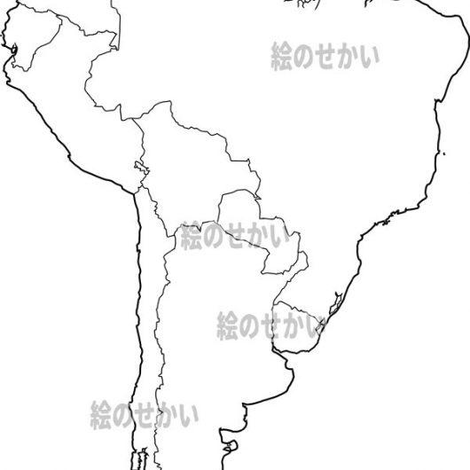 南米大陸の白地図セット:南米地域