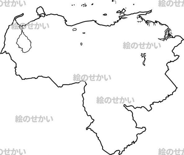南米大陸の白地図セット:ベネズエラ