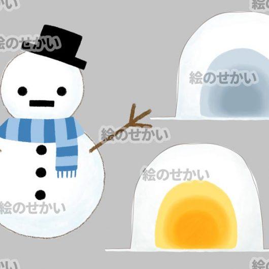 冬のイラスト素材セット:サンプル1