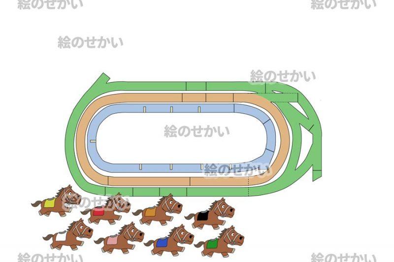 競走馬のイラストセットサンプル7