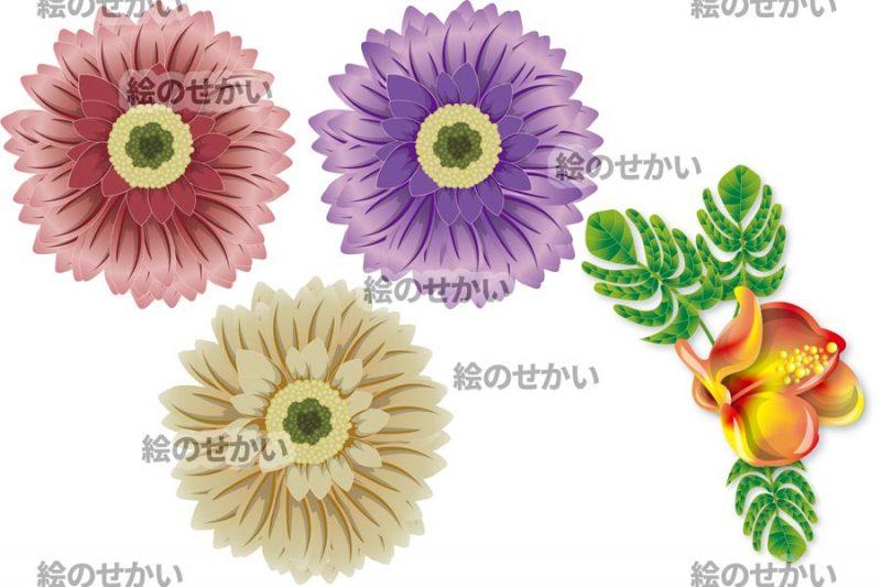 花のイラスト素材セットサンプル2