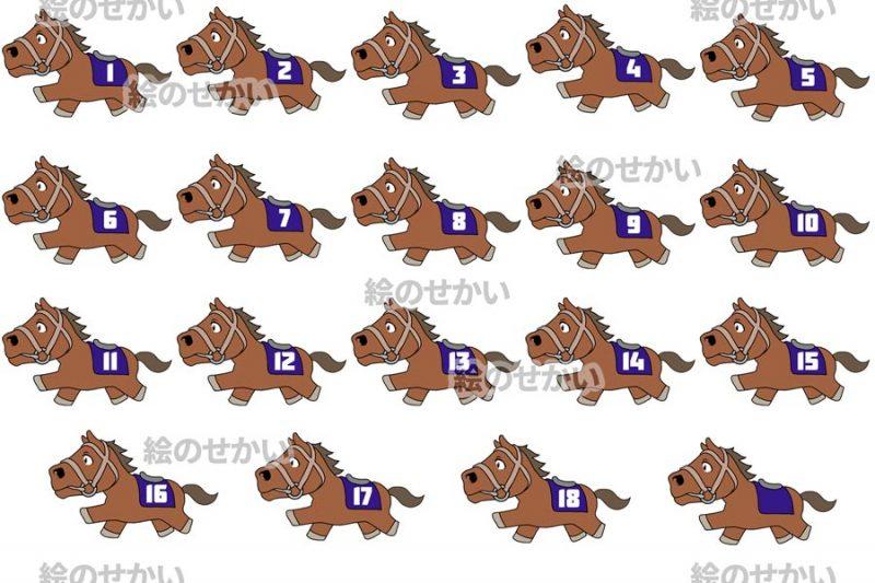 競走馬のイラストセットサンプル4