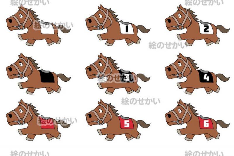 競走馬のイラストセットサンプル3