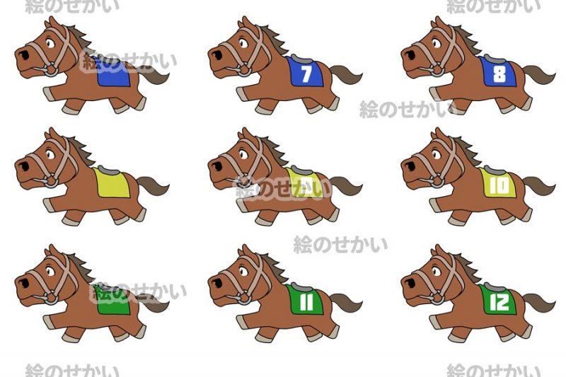 競走馬のイラストセットサンプル2
