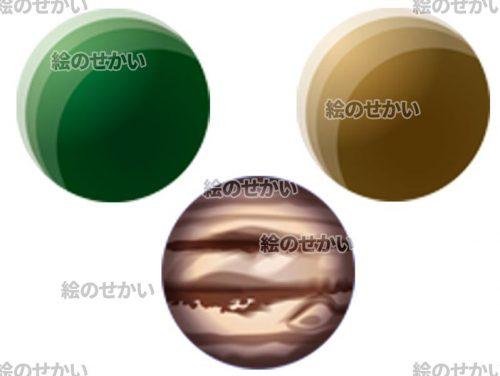 宇宙のイラスト素材サンプル2