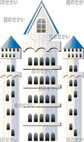 西洋のお城のイラストサンプル