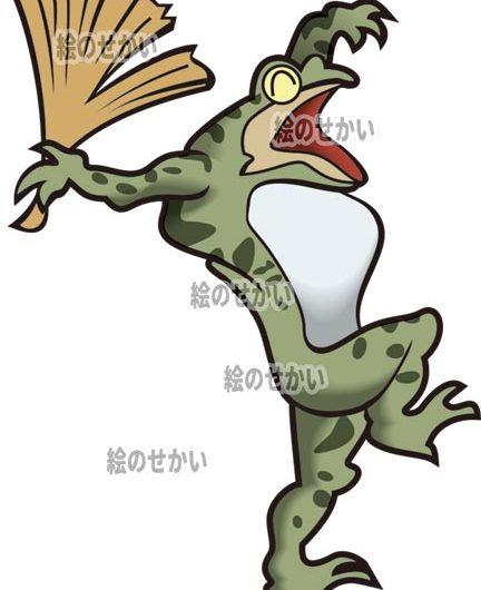 浮世絵風カエルのイラストサンプル