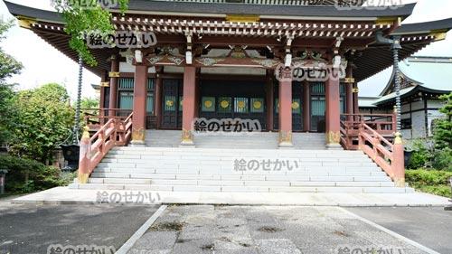 お寺の背景写真サンプル1