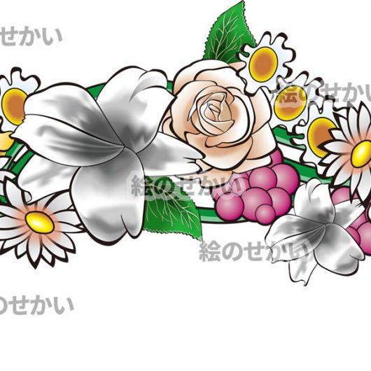 花のティアラのイラストサンプル1